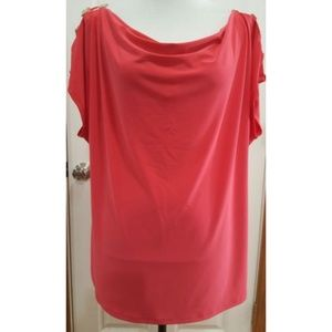 Dressbarn Collection Tunic Size 2X Coral